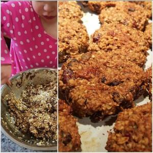 Breakfast cricket flour cookies