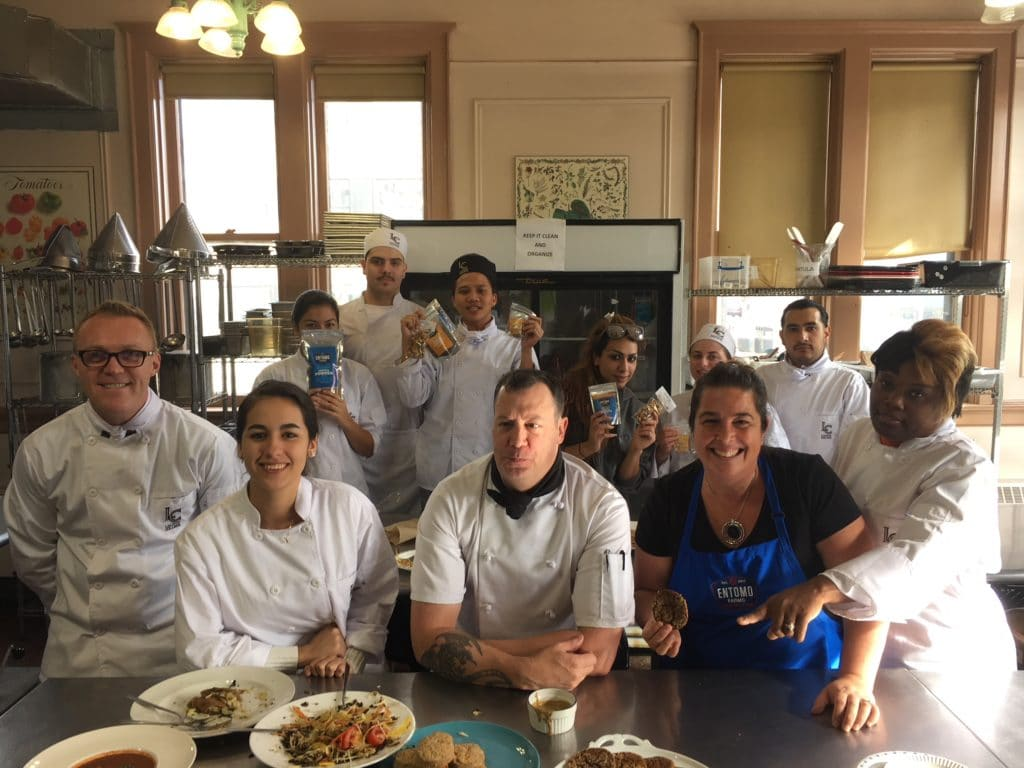 Entomo Farms Cooking With Crickets at Liaison College
