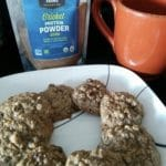 oatmeal cookies made with cricket powder