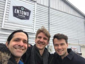Ryan Goldin with Samuli Taskila of Entis and George Brandenburg of Burgs Foods
