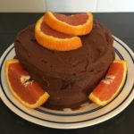 chocolate orange cake made with cricket powder