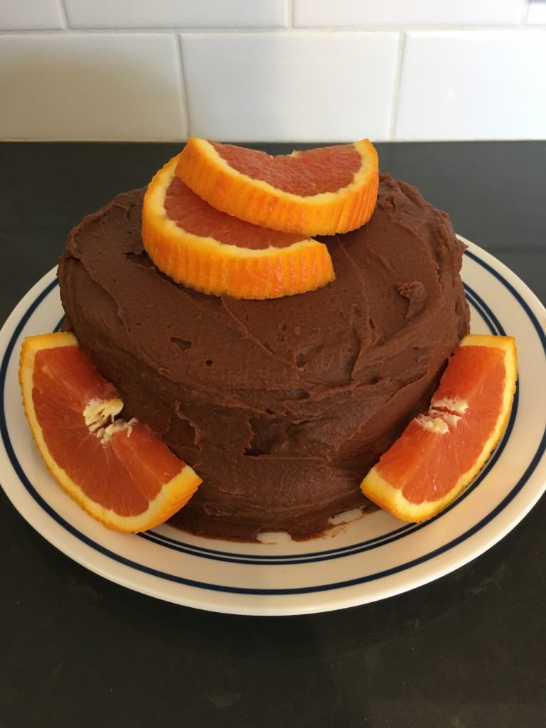 chocolate orange cake made with cricket powder